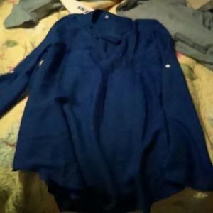 Never worn Royal Blue silk shirt